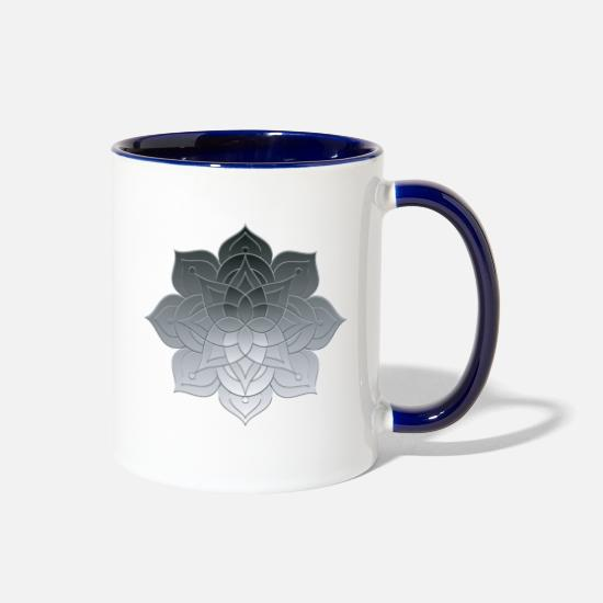 Studies Mugs & Drinkware - Geometric Prints Petals Illustration - Two-Tone Mug white/cobalt blue