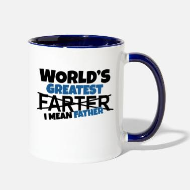 Father world's greatest farter i mean father - Two-Tone Mug