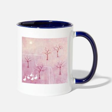 Orchard Geese in the Orchard - Two-Tone Mug