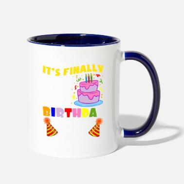 Cake Colorful Celebration It's Finally My Birthday - Two-Tone Mug