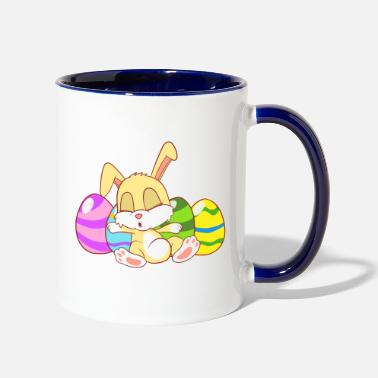 Supper Cool Bunny Shirt For Mommies Happy Easter - Two-Tone Mug