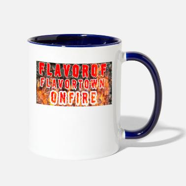 Flavor Flavor Of Flavor Town On Fire - Two-Tone Mug