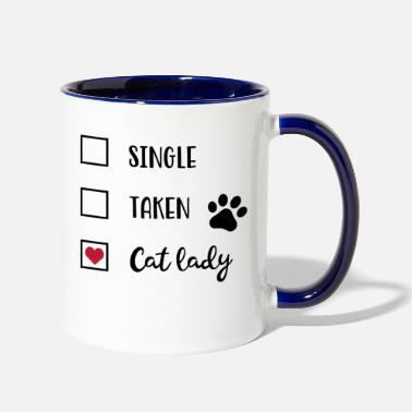 Offensive catlady - Two-Tone Mug