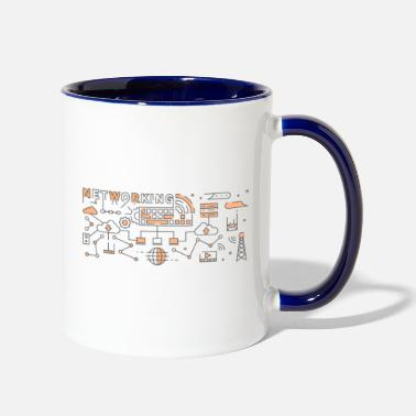 Trending Line Art Design - Two-Tone Mug