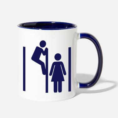 Peep Peeping Tom - Two-Tone Mug