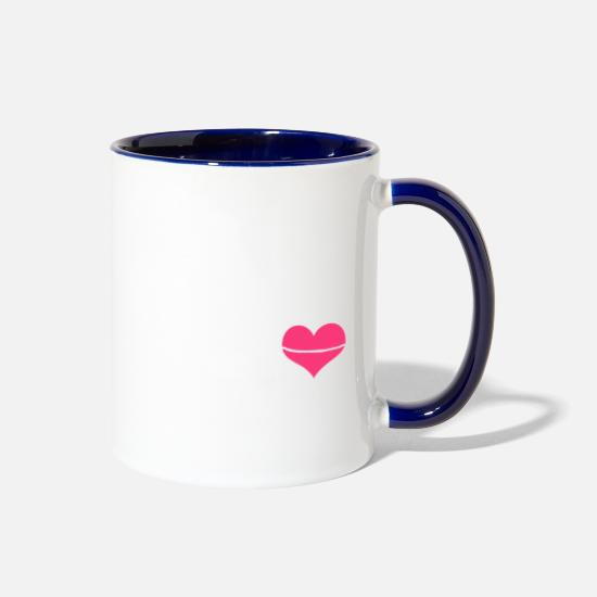Shepherd Mugs & Drinkware - German Shepherd Mom Shirt - Two-Tone Mug white/cobalt blue