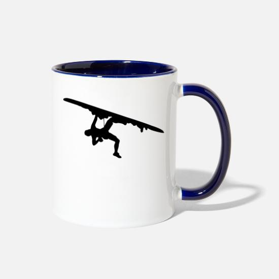 Climber Mugs & Drinkware - Hanging Climber - Two-Tone Mug white/cobalt blue