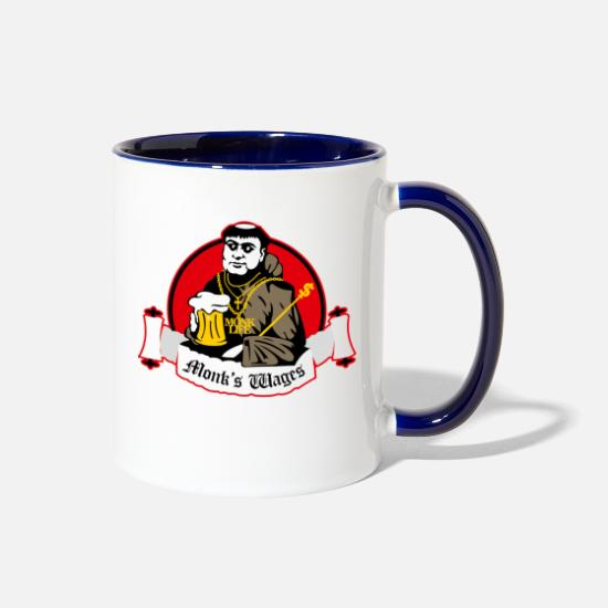 Monk Mugs & Drinkware - monk - Two-Tone Mug white/cobalt blue