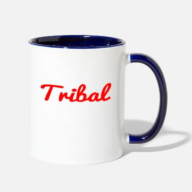 Tribal tribal - Two-Tone Mug