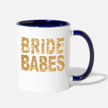 Bride Babes gold hen night girls night out - Contrast Coffee Mug