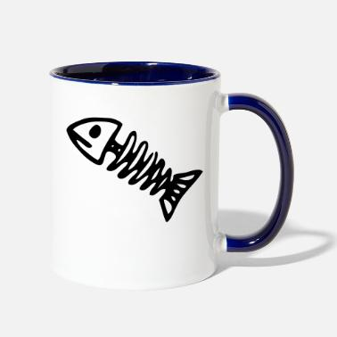 Fish Bone fish bone - Two-Tone Mug