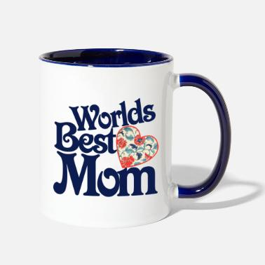 Mothers Day Worlds best mom - Two-Tone Mug