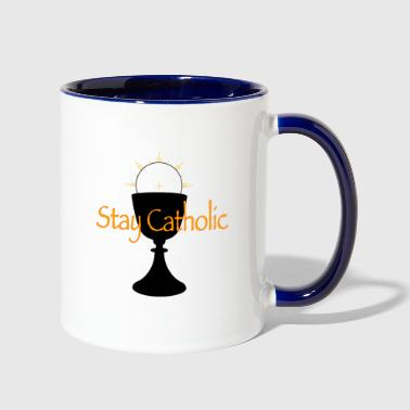 Stay Catholic - Contrast Coffee Mug