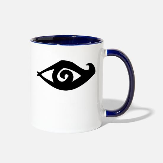 Eye Mugs & Drinkware - eye - Two-Tone Mug white/cobalt blue