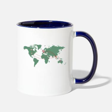 Map Map - Contrast Coffee Mug