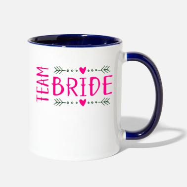 Bride team bride - Two-Tone Mug
