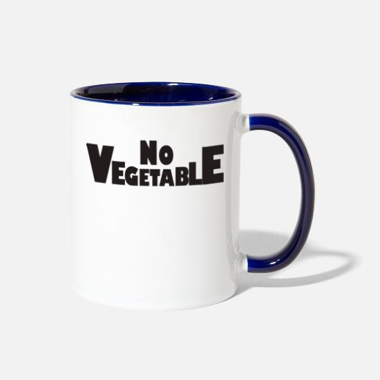 Birthday Mugs & Drinkware - No Vegetable - Two-Tone Mug white/cobalt blue