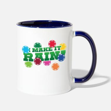 Omaha I make it rain jeton jetons casino gambling poker - Two-Tone Mug