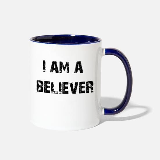 Magic Mugs & Drinkware - believer - Two-Tone Mug white/cobalt blue