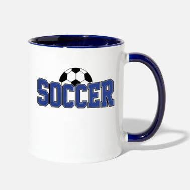 Soccer Soccer Ball , Soccer Player, Soccer Ball - Two-Tone Mug