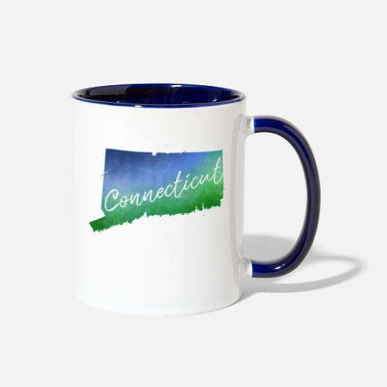 Connecticut Mugs & Drinkware - Connecticut - Two-Tone Mug white/cobalt blue