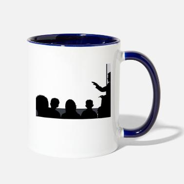 Lineament Classroom Silhouette 16:9 (HD) with transparent - Two-Tone Mug