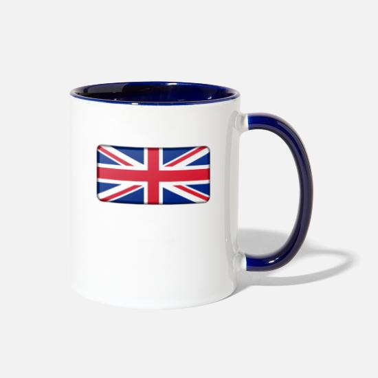 British Flag Mugs & Drinkware - british flag - Two-Tone Mug white/cobalt blue