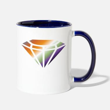 Ring diamond - Two-Tone Mug