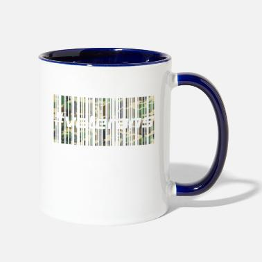 Veterans Day Veterans and soldiers #veterans - Barcode Camo - Contrast Coffee Mug