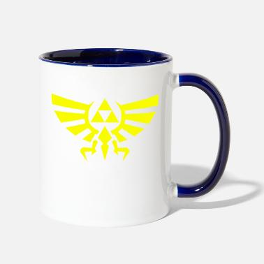 Vector Triforce vectorized - Two-Tone Mug