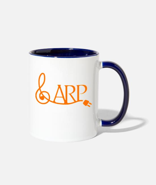 Music Mugs & Cups - arplogo - Two-Tone Mug white/cobalt blue