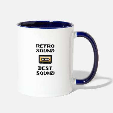 Sounds retro sound best sound - Two-Tone Mug