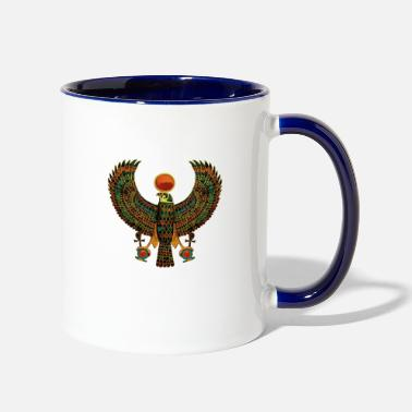Ancient Horus Ancient Egyptian Falcon Hieroglyph - Two-Tone Mug