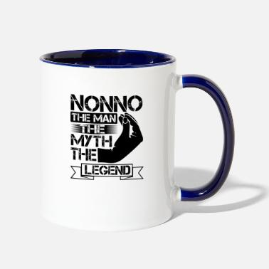 Man NONNO - THE MAN THE MYTH THE LEGEND - Two-Tone Mug