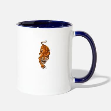 Asian asian tiger - Contrast Coffee Mug