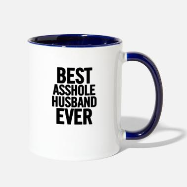 Best Best Asshole Husband Ever Black - Two-Tone Mug