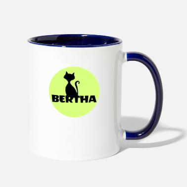First Name Bertha name first name - Two-Tone Mug