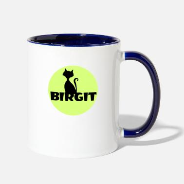 Name Day Birgit Name first name - Contrast Coffee Mug