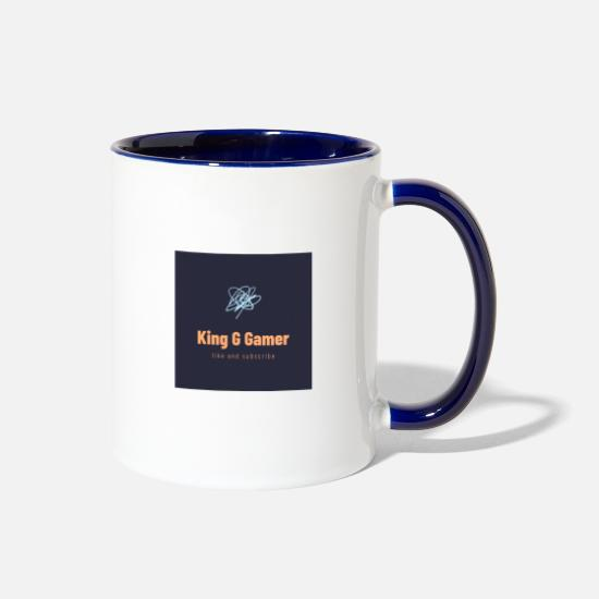 King Mugs & Drinkware - King G Gamer/ spread shirt - Two-Tone Mug white/cobalt blue