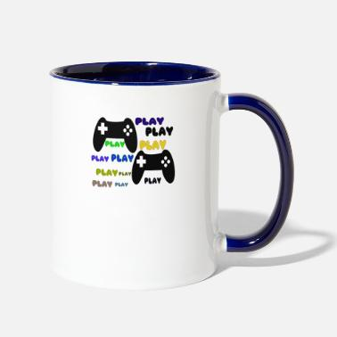 Playing play - Two-Tone Mug