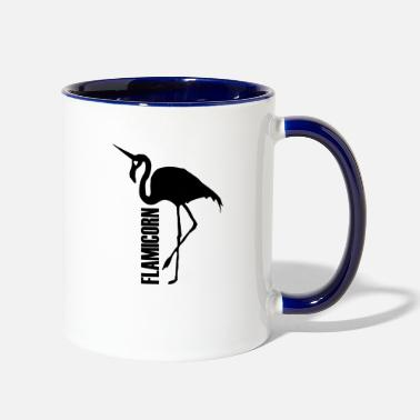Hybrid flamingo unicorn hybrid creature hybrids black - Contrast Coffee Mug