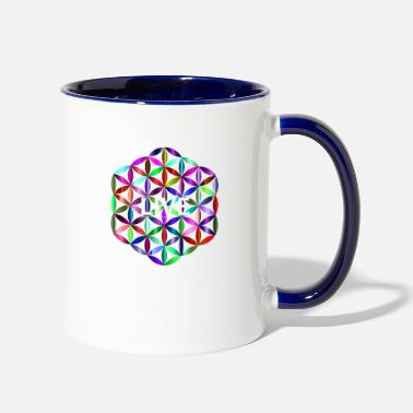 Life Flower flower of life - Two-Tone Mug