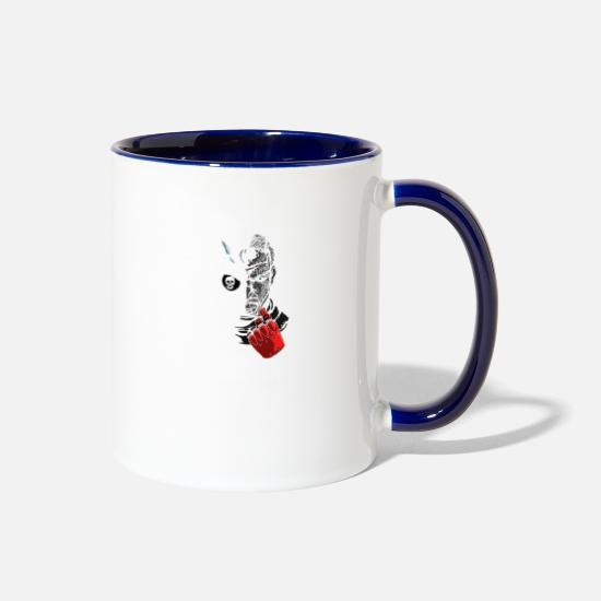 Big Mugs & Drinkware - Big Boss - Two-Tone Mug white/cobalt blue