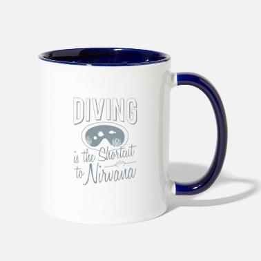 Nirvana Diving is the shortcut to Nirvana - Two-Tone Mug