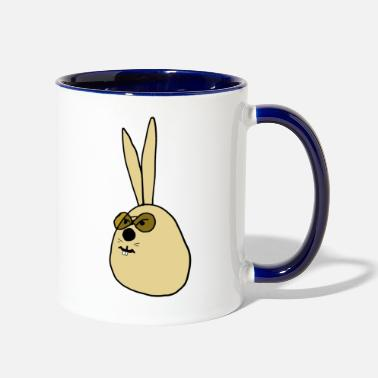 Old old Rabbit ,old Bunny - Two-Tone Mug