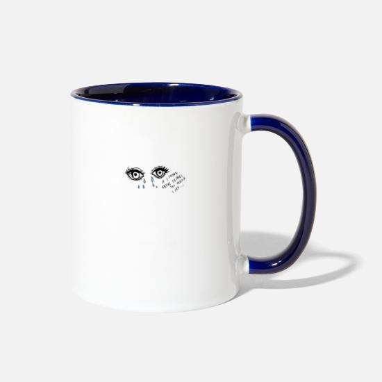Big Mugs & Drinkware - Upset with Meaning - Two-Tone Mug white/cobalt blue