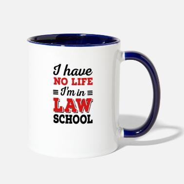 Back To School law school - Two-Tone Mug