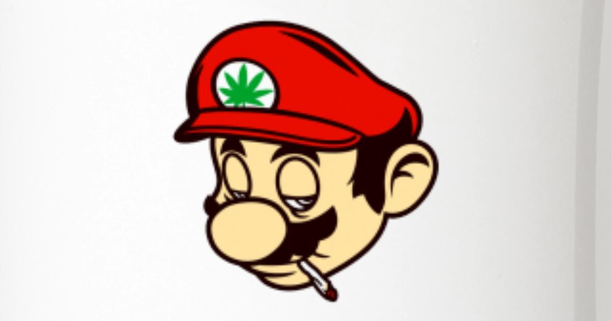 Mario Smoking Marijuana Weed Two-Tone Mug   Spreadshirt
