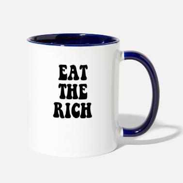 Occupy Wall Street Eat the Rich Occupy Wall Street - Two-Tone Mug
