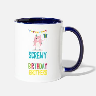 screwy Birthday Brothers - Two-Tone Mug